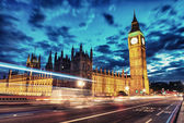 Palace of Westminster with Big Ben seen from Westminster Bridge — Stock Photo