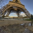 Winter colors of Eiffel Tower and Champs de Mars in Morning — Stock Photo #13701363