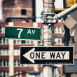 Classic Street Signs in New York City — Stock Photo