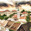 Royalty-Free Stock Photo: The roofs of Cesky Krumlov, Czech republic