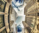 Majestad de los rascacielos de la ciudad de nueva york — Foto de Stock
