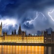 Storm over Big Ben and House of Parliament - London — Stock Photo #13716718