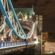 Tower Bridge architectural detail at Night - London — Stock Photo #13947578