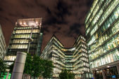 London Modern Buildings illuminated at Night — Стоковое фото