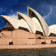 Opera house in Sydney with sky on background — Stock Photo