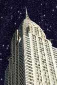 New york city manhattan avec des étoiles dans le ciel — Photo