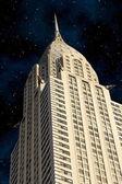 Skyscrapers of Manhattan at Night, New York City — Stock Photo