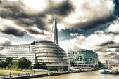 London Architecture detail over river Thames — Stock Photo