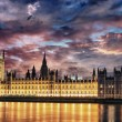 Sunset Colors over Big Ben and House of Parliament - London — Stock Photo
