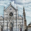 Basilica of Santa Croce in Florence - Stock Photo
