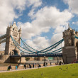 Stock Photo: Power and Magnificence of Tower Bridge Structure over river Tham