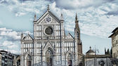 Basilica of Santa Croce in Florence — Stock Photo