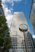 Office Buildings and Skyscrapers in Canary Wharf, financial dist — Stock Photo
