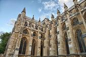 在伦敦,英国-侧视图威斯敏斯特修道院教堂 — 图库照片
