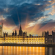 Big Ben and House of Parliament at River Thames International La — Stock Photo