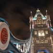 Tower Bridge architectural detail at Night - London — Stock Photo