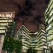 London Modern Buildings illuminated at Night — Stock Photo
