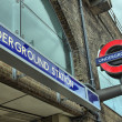Постер, плакат: LONDON SEP 27: Underground tube station in London on Septembe