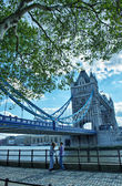 Tower Bridge Structure detail, London. The bridge is 244 m in le — Stock Photo