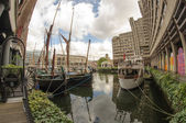 St Katharine Docks in London — Foto de Stock