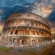 Wonderful view of Colosseum in all its magnificience - Autumn su — Stock Photo #14688295