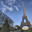 Stock Photo: Eiffel Tower and Champ de Mars in Paris, France. Famous landmark