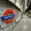 LONDON - SEP 28: Underground Westminster tube station in London — Stock Photo