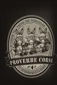Proverbe Corse — Stock Photo