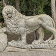 Lion Sculpture in the hill above Piazza del Popolo in Rome — Stock Photo
