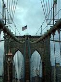 Brooklyn Bridge Detail in New York — Stock Photo
