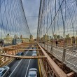 Magnificient structure of Brooklyn Bridge - New York City — Stock Photo #15026633