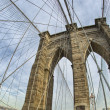 Magnificient structure of Brooklyn Bridge - New York City — Stock Photo
