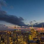 Wonderful night colors and light of Manhattan, New York City — Stock Photo