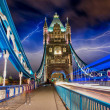 Famous Tower Bridge at sunset with clouds — Stock Photo #15324311