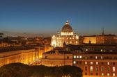 Nádherné večerní pohled svatého petra — Stock fotografie