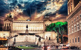 Piazza Venezia and National Monument to Victor Emmanuel II — Stock Photo