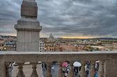 Escaleras de la piazza di spagna en roma de trinitá dei monti — Foto de Stock