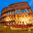 Beautiful view of Colosseum at sunset — Stock Photo