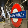 London: London Underground sign outside Canary — Stockfoto #15702061
