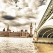 Big Ben, House of Parliament and Westminster Bridge — Stock Photo #15735221