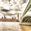 Big Ben, House of Parliament and Westminster Bridge — 图库照片 #15735221