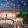 Piazza Venezia and National Monument to Victor Emmanuel II — Stock Photo #15748583