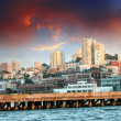 Stock Photo: Skyline of SFrancisco with Dramatic Sky