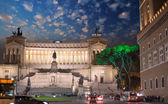 Piazza Venezia and National Monument to Victor Emmanuel II — 图库照片