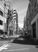 Architectural detail of Tokyo, Black and White view — Stock Photo