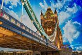 Beautiful lights of Tower Bridge in London — Stock Photo