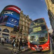 London: Red Double Decker Bus on the streets of London — Stock Photo