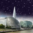 Stars over London city hall with Thames river — Stock Photo #16324879