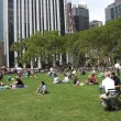 Stock Photo: New York City: relax in Bryant Park