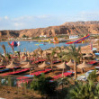 Sharm el Sheikh - Panoramic view of beach and mountains — Stock Photo